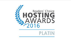 ERP Server - Readers Choice Hosting Awards 2016 Platinum
